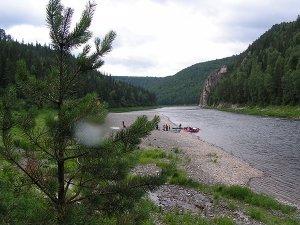 Сплав по реке Кия